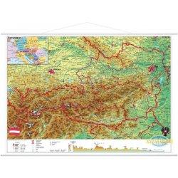 Austria - mapa fizyczna