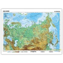 Azja Północna-mapa fizyczna/polityczna-j. niemiecki