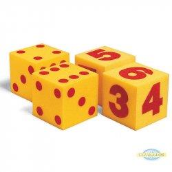 Wielkie kostki z pianki - kropki 1-6, 2 sztuki
