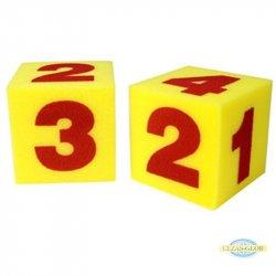 2 wielkie kostki z pianki - cyfry 1-6