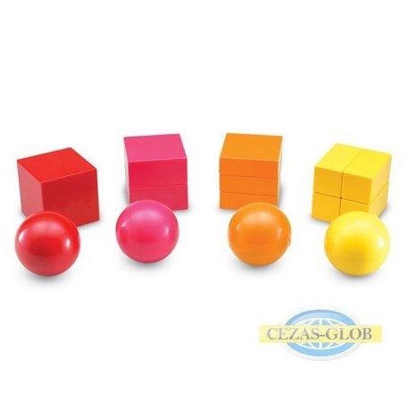Bryły ułamkowe magnetyczne - 20 elementów