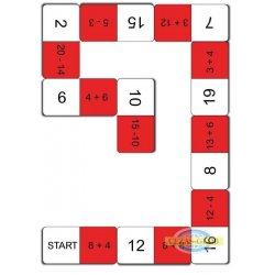 Domino arytmetyczne - dodawanie do 20
