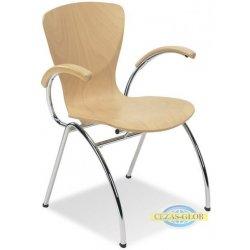 Krzesło BINGO ARM BINGO WOOD (ALU, CHROME)