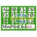 Plansza  Alfabet pisany-drukowany