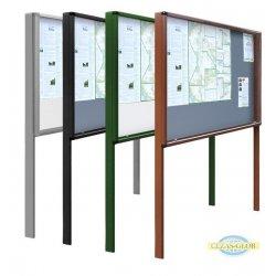 Gablota zewnętrzna wolnostojąca GOZ-WL 120x100 H-200 cm