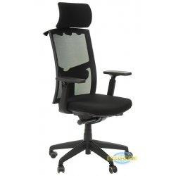 Krzesła obrotowe z wysuwem siedziska KB-8922A CZARNY