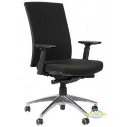 Krzesła obrotowe z wysuwem siedziska KB-8922 B-S/ ALU SZARY