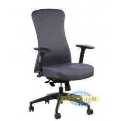 Krzesła obrotowe z wysuwem siedziska KENTON  SZARY