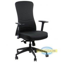 Krzesła obrotowe z wysuwem siedziska KENTON CZARNY