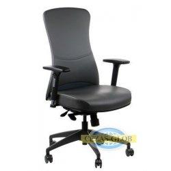 Krzesła obrotowe z wysuwem siedziska KENTON SZARY PU