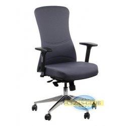 Krzesła obrotowe z wysuwem siedziska KENTON / ALU / SZARY