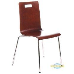 Krzesła stacjonarne sklejkowe z otworem TDC-132 orzech