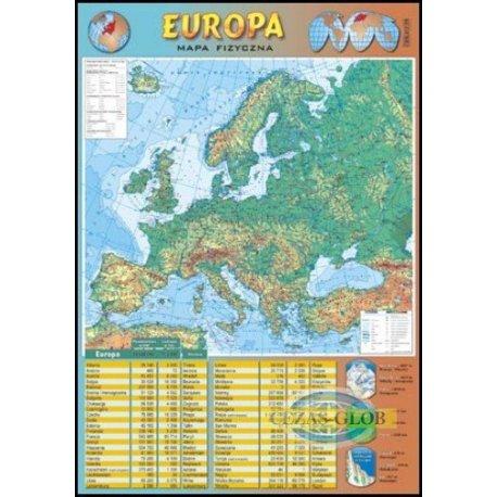 Europa - mapa fizyczna