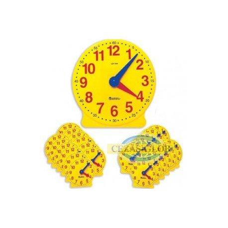 Tarcza zegarowa z systemem kół zębatych - zestaw klasowy 24+1