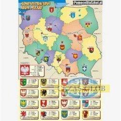 Plansza Administracyjna mapa Polski