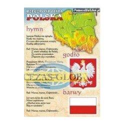 Plansza Polskie godło, barwy, hymn