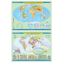 ŚWIAT Mapa ścienna Ukształtowanie powierzchni/Podział polityczny