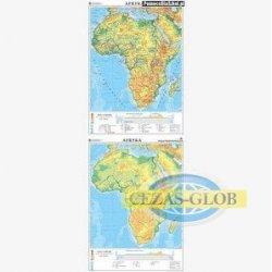 Afryka-mapa ogólnogeograficzna/mapa do ćwiczeń