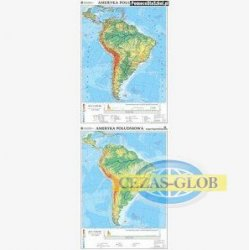 Ameryka Południowa-mapa ogólnogeograficzna/mapa do ćwiczeń