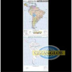 Ameryka Południowa-mapa polityczna/konturowa