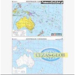 Australia-mapa polityczna/konturowa