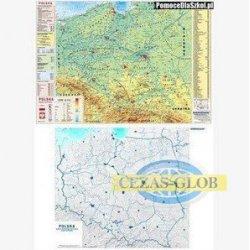 DUO Polska fizyczna z elementami ekologii / mapa hipsometryczna