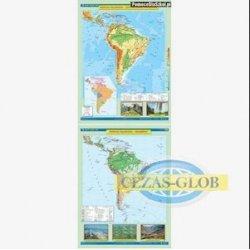 Mapa Ameryka południowa. Ukształtowanie powierzchni/Krajobrazy