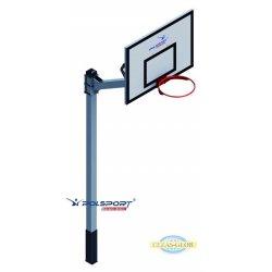 Stojak do koszykówki jednosłupowy cynkowany, wysięgnik 1,2 m, rura kwadrat 100x100x3