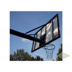 Stojak do koszykówki jednosłupowy, wysięgnik o dł. 1,6m - cynkowany