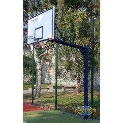 Stojak do koszykówki jednosłupowy, wysięgnik o dł. 1,6m - malowany